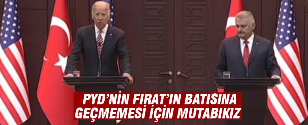 Başbakan Yıldırım ve ABD Başkan Yardımcısı Biden'dan ortak açıklama