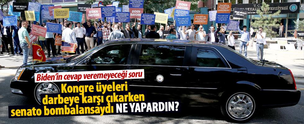 Başkent'te 'Biden' protestosu