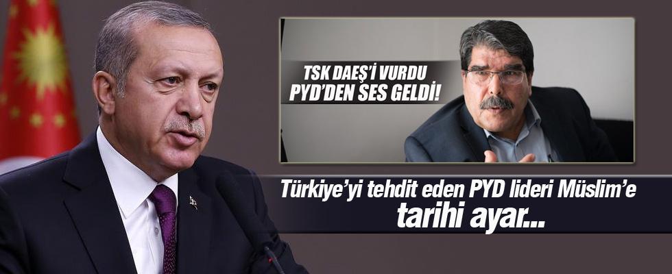 Cumhurbaşkanı Erdoğan'dan Salih Müslim'e Suriye cevabı...