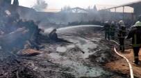 GÖRGÜ TANIĞI - Gaziantep'te Sanayi Sitesinde Yangın