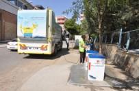 SIIRT BELEDIYESI - Çöp Konteynırları Dezenfekte Ediliyor