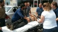 MANGAL KÖMÜRÜ - Devrilen Traktörün Altında Kalan Vatandaş Ağır Yaralandı