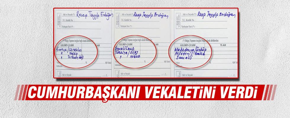 Cumhurbaşkanı Erdoğan, kurban vekaletlerini verdi