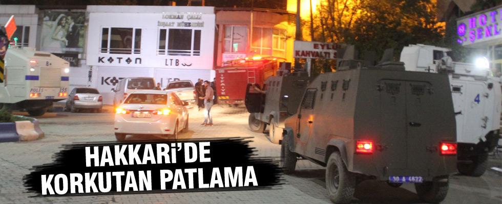 Polis lojmanı yakınlarında patlama
