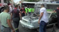 KLASİK OTOMOBİL - Seyir Halindeyken Alev Alan Klasik Otomobil Yandı