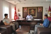 Üsteğmen Burak Çelik'ten, Başkan Tutal'a Ziyaret