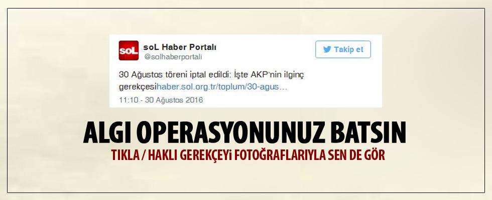 Atatürk Kültür Merkezi'ndeki geçit töreni iptal