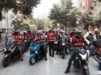 EDIRNEKAPı - Bin 400 Motosikletle 30 Ağustos Zafer Bayramı Korteji