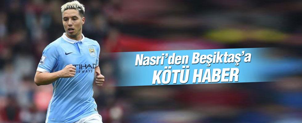 Samir Nasri'den Beşiktaş'a çok kötü haber