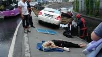 İstanbul'da dehşet! Rus sürücü refüje girdi