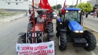 BALCıLAR - Kadirlili Çiftçilerden 500 Traktörle Demokrasi Konvoyu