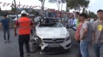 LÜKS OTOMOBİL - Lüks Otomobil Park Halindeki TIR'a Çarptı Açıklaması 4 Yaralı