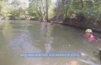 Dağcılar, Bursa'nın Saklı Görüntülerini Yüzerek Böyle Geçti