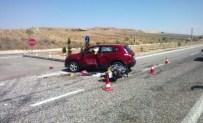 HASANCıK - Otomobil İle Motosiklet Çarpıştı Açıklaması 1 Ölü, 1 Yaralı