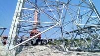 YÜKSEK GERİLİM HATTI - Lapseki'de Elektrik İletim Hattı Çalışmaları