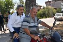 HALUK ALICIK - Başkan Motosikletle Mahalleyi Denetledi