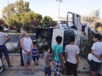 Milas'ta Yüklü Kamyon Devrildi Açıklaması 1 Yaralı