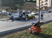 AYDINLATMA DİREĞİ - Samsun'da Otomobil Takla Attı Açıklaması 1 Yaralı