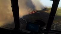 TUZLA PİYADE OKULU - Tuzla'da askeri alanda yangın