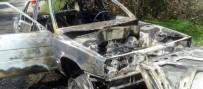 KURUGÖL - Akçakoca'da Araç Yangını