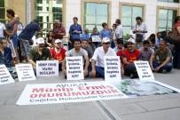 ÇAĞDAŞ HUKUKÇULAR DERNEĞİ - Antalya'da Avukatlardan Oturma Eylemi