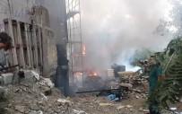 HÜRRİYET MAHALLESİ - İmam Hatip Ortaokulu İnşaatındaki Yangın Mahalleliyi Sokağa Döktü