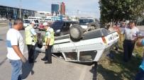 ATATÜRK BULVARI - Otomobil Takla Attı Açıklaması 1 Yaralı