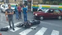 ERDEMIR - Yarım Saat İçinde 2 Ayrı Motosiklet Kazası Açıklaması 2 Yaralı