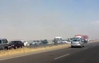 ANIZ YANGINI - Anız Yangını Zincirleme Kazaya Neden Oldu Açıklaması 20 Yaralı
