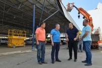 SEMT PAZARI - Başkan Böcek, Liman Kapalı Semt Pazarı Yenileme Çalışmalarını İnceledi