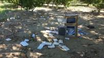 SİGARA İZMARİTİ - Çaldıkları Kasayı Şeftali Bahçesinde Açtılar
