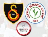 HAKAN BALTA - Galatasaray,  Rizespor'u Eren Derdiyok'un golleriyle geçti