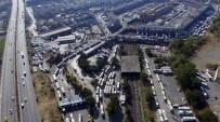 İSTANBUL OTOGARI - Büyük İstanbul Otogarı'ndaki Dönüş Trafiği Havadan Görüntülendi