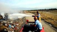 Burhaniye'de Çöplük Yangını