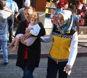 EVDE TEK BAŞINA - Minik Esma Nur Yangından Son Anda Kurtarıldı