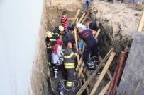 TOPRAK KAYMASI - Temel Kazısında Toprak Kayması Açıklaması 2 Yaralı