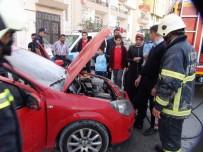 MUTFAK TÜPÜ - Yozgat'ta Otomobil Yangını Korkuttu