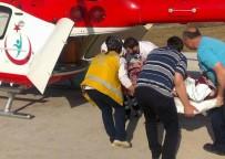 BEYİN KANAMASI - Beyin Kanaması Geçiren Kadın Ambulans Helikopter İle Hastaneye Nakledildi