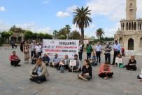 DÜŞÜNÜR - Konak Meydanı'nda Bağdaş Kurup Kitap Okudular