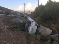 DİKKATSİZLİK - Söke'de Yenidoğan Kavşağında Otomobil Yan Yattı
