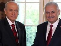 MHP - Başbakan Yıldırım - Bahçeli görüşmesi