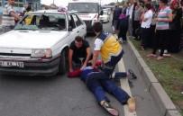 ÇEKIM - Kazayı Merak Edip Geldi, Yaralının Eşi Olduğunu Görünce Gözyaşlarına Boğuldu
