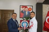 BRONZ MADALYA - Osman Yalt Avrupa Şampiyonası Sonrası, Başkan Cabbar'ı Ziyaret Etti