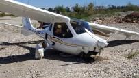 TÜRK HAVA KURUMU - Antalya'da Ultralight Tipi Uçak Zorunlu İniş Yaptı