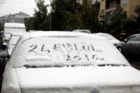 KAR YAĞıŞı - Erzurum Kent Merkezine Mevsimin İlk Karı Yağdı