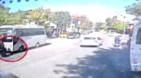 AFYON KOCATEPE ÜNIVERSITESI - İndiği Otobüsün Altında Kaldı