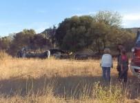 BALIK AĞI - Karavanda Çıkan Yangın Ağaçlık Alana Sıçradı