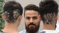 ÖMER HALİSDEMİR - Erdoğan ve Halisdemir'n portrelerini saçlarına kazıdılar