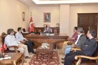 AHMET ÜNAL - MGC Yönetimi Vali Çakacak'ı Ziyaret Etti