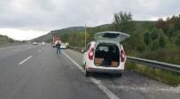 KARAYOLLARI - Düzce TEM Otoyolu'nda Kaza Açıklaması 1 Yaralı
